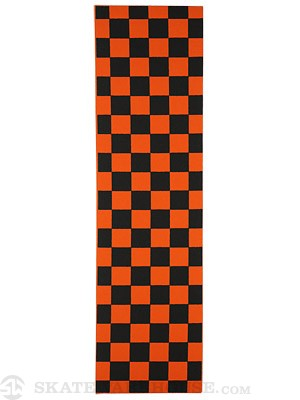 FKD Checkers Black/Neon Orange Griptape