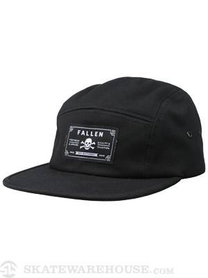 Fallen Deathproof 5-Panel Hat Black Adjust
