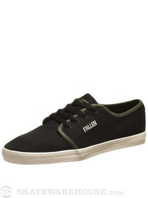 Fallen Daze Shoes  Black/Surplus Green