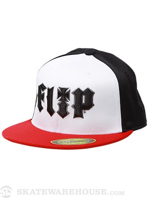 Flip HKD 3D Flexfit Hat White/Black/Red SM/MD