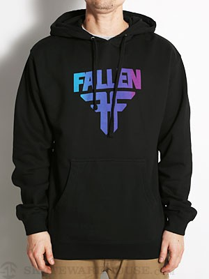 Fallen Insignia Hoodie Black/Blue/Purple XL