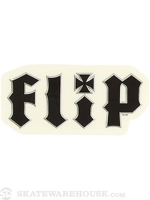 Flip Metalhead Sticker Small  Black