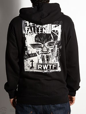 Fallen Refused Hoodzip Black MD