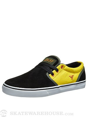 Fallen Slash The Easy Shoes  Black/Galaxy Yellow