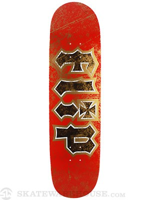 Flip Thrashed Red/Gold Deck  8.5 x 32.88