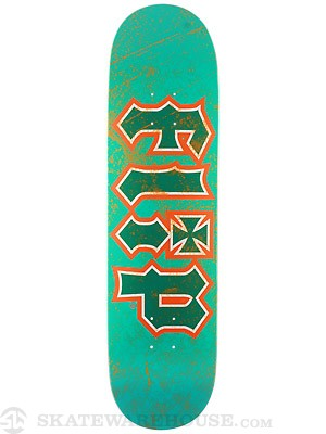 Flip Thrashed Teal/Orange Deck  8.25 x 32.31
