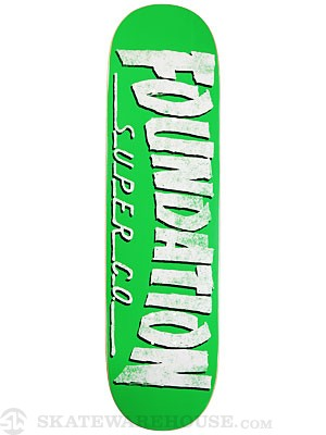 Foundation F Thrasher Green Deck 8.5 x 32.125