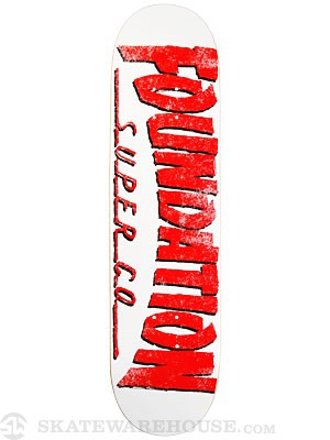 Foundation F Thrasher White Deck 8.125 x 31.625