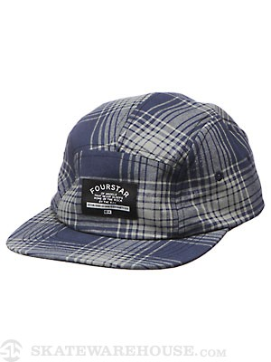 Fourstar Acid Plaid 5-Panel Hat Navy Adjust