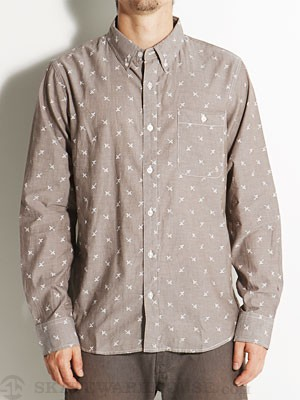 Fourstar Anderson L/S Woven Shirt Brown MD