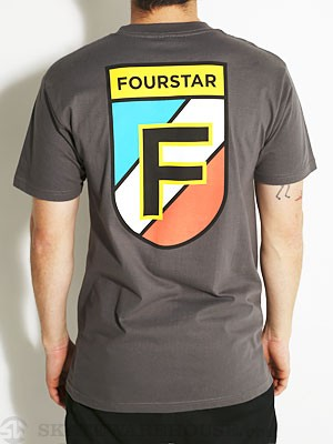 Fourstar Badge Tee Asphalt SM