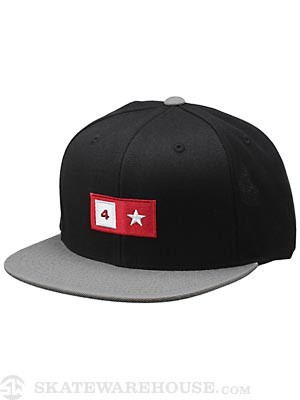 Fourstar Bar Snapback Hat Black Adjust