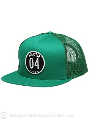 Fourstar Circle 04 Mesh Hat Kelly Green Adj.