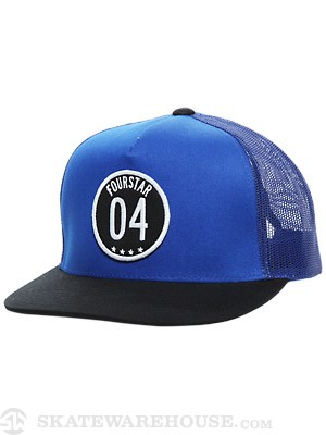 Fourstar Circle 04 Mesh Hat Royal/Black Adj.