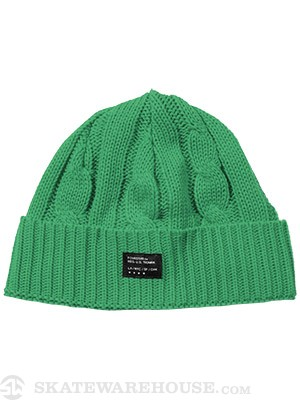Fourstar Cable Knit Beanie Green