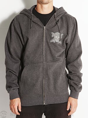 Fourstar Chenile Patch Hoodzip Charcoal SM