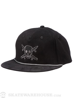 Fourstar Cord Pirate Trucker Hat Black Adjust