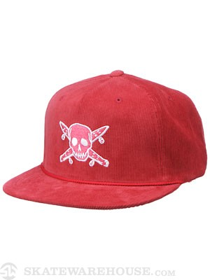 Fourstar Cord Pirate Trucker Hat Red Adjust