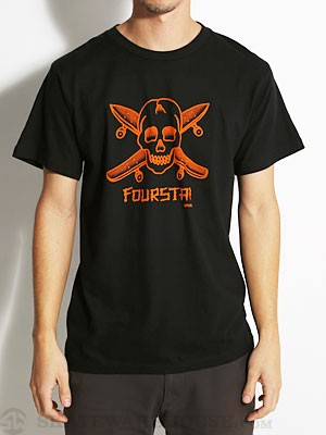 Fourstar Dressen Pirate Tee Black SM