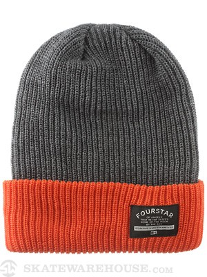 Fourstar Double Time Fold Beanie Orange