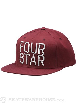 Fourstar Facet Snapback Hat Merlot Adjust