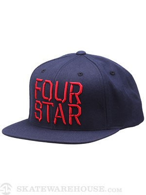Fourstar Facet Snapback Hat Navy Adjust