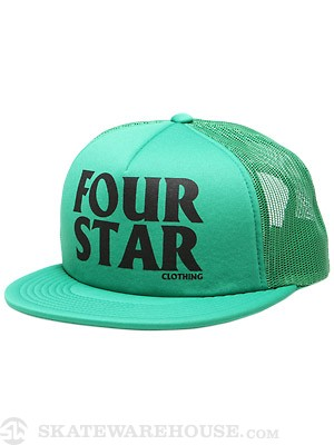 Fourstar Foam Hero Mesh Hat Kelly Green Adj.
