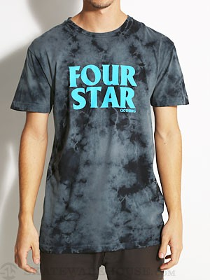 Fourstar Four Hero Lightning Wash Tee Black SM
