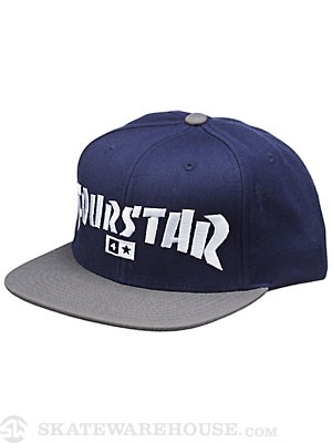 Fourstar Highspeed Snapback Hat Navy Adjust