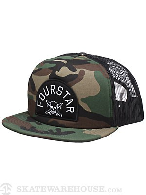 Fourstar Loctin Trucker Hat Camo Adjust