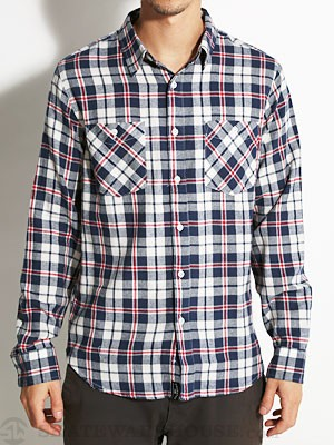 Fourstar Maple L/S Flannel Shirt Navy MD