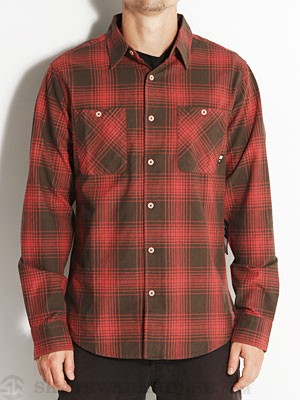 Fourstar Nixa L/S Woven Shirt Red XL