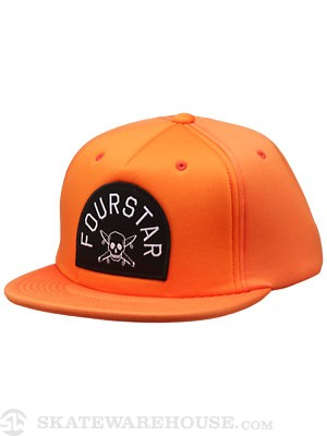 Fourstar Octin Arch Snapback Hat Orange Adj.