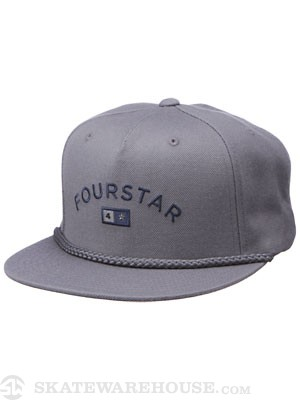 Fourstar Bar Lockup Starter Hat Grey Adjust