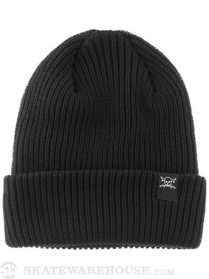 Fourstar Pirate Fold Beanie Pirate Black