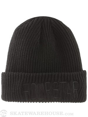 Fourstar New League Fold Beanie Black