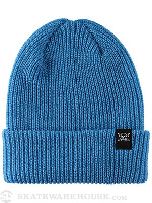 Fourstar Pirate Label Fold Beanie Azule Blue
