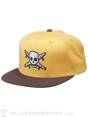 Fourstar Pirate Snapback Hat Butterscotch Adj.