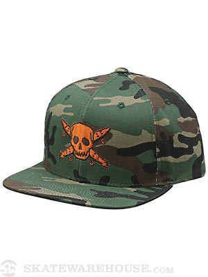 Fourstar Pirate Snapback Hat Camo Adjust