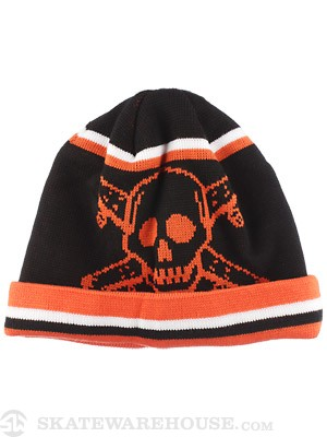 Fourstar Pirate Stripe Beanie Black