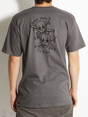Fourstar Smile Now Cry Later Tee Charcoal MD