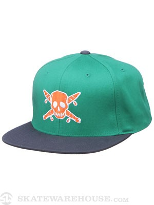 Fourstar Pirate Starter Hat Green/Navy Adj.