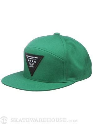 Fourstar Triad Snapback Hat Green Adjust