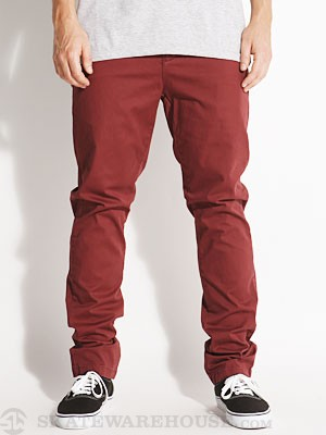 Globe Goodstock Chino Pants Oxblood 33