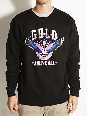 Gold Above All Crewneck Sweatshirt Black MD