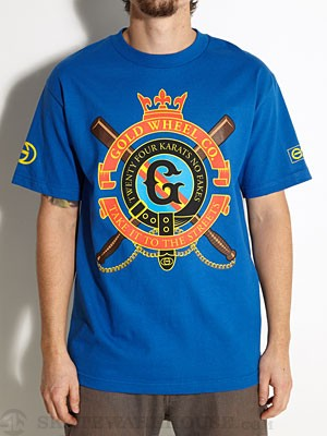 Gold Wheels Clubbed Tee Royal MD