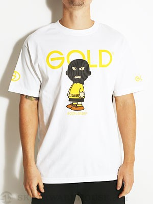 Gold Wheels Chuck Tee White SM