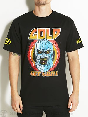 Gold Wheels Get Grill Tee Black SM