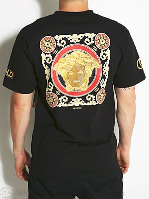 Gold Wheels Luxury Tee Black SM