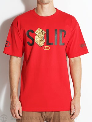 Gold Wheels Solid Tee Red SM